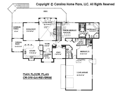 reverse floor plan large contemporary ranch style house plan cr 3191 sq ft