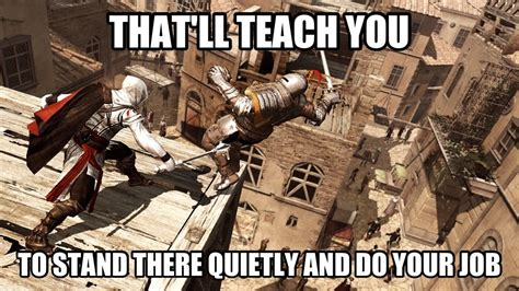 Funny Assassins Creed Memes - 187 assassin s creed funny franchise die rest timeout