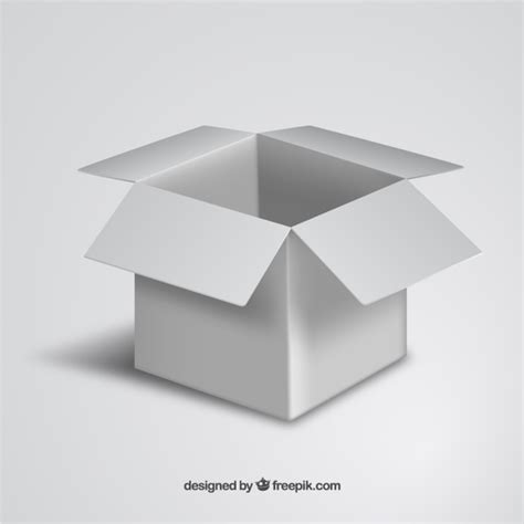 big box open during new year white open cardboard box vector free