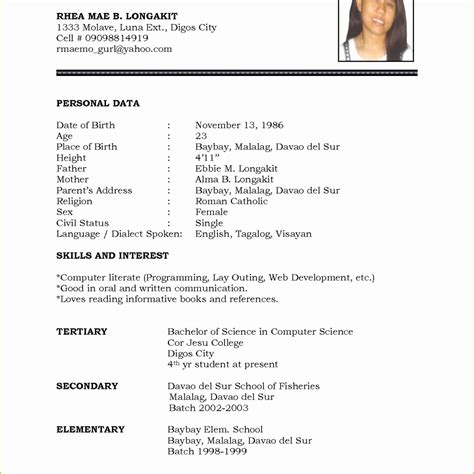 13 unique new model resume format resume sle ideas resume sle ideas