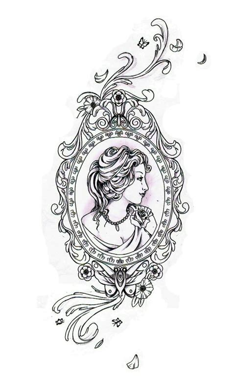 oval tattoo designs the gallery for gt antique frame
