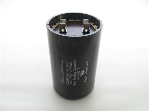 start capacitor 105 126 uf cd60b 2bj105126 t1 capacitor industries