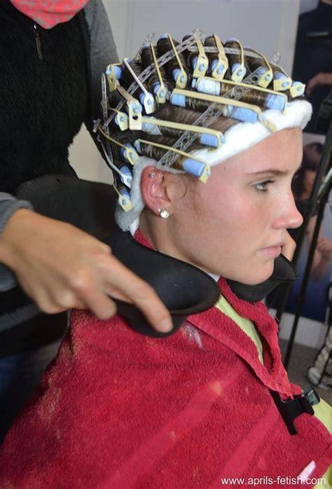 wife perms husband hair jeune permanente bande de cotton coiffure permanente