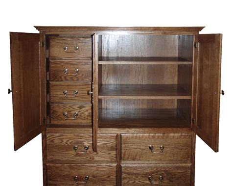 etagere regensburg clothes armoire with drawers fd 3056m mission oak 10