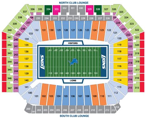 what are seats at a football nfl stadium seating charts stadiums of pro football