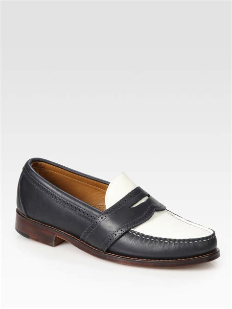 navy and white loafers ralph ellesmere loafers in white for
