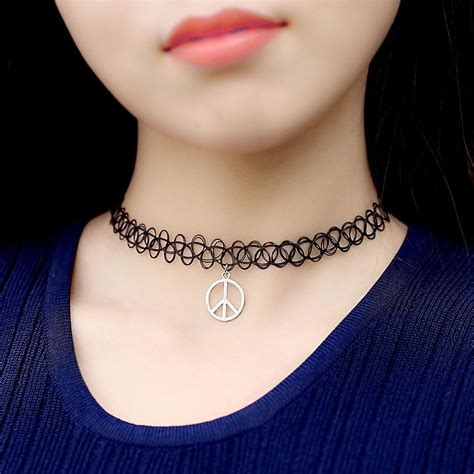 tattoo choker singapore handmade leather stretch elastic necklaces