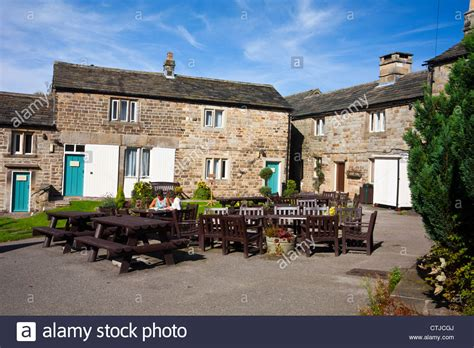fox house renovated cottages attached to the fox house inn in the peak district stock photo