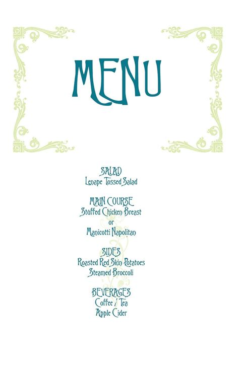 17 Best Images About Mamma Mia On Pinterest Wedding Tops London And Hens Birthday Menu Template