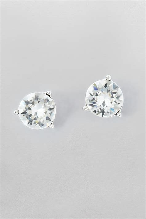stud earrings made with swarovski elements