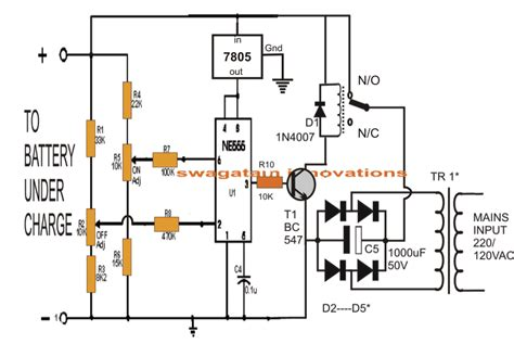 ic  controlled lead acid battery charger circuit