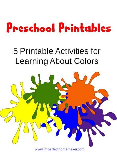 Free Preschool Learning Colors Printables   Free