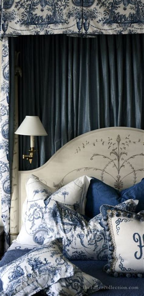 furniture bedrooms blue  white french country
