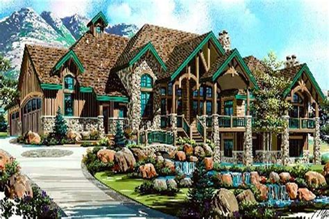 luxury house plans rustic craftsman home design