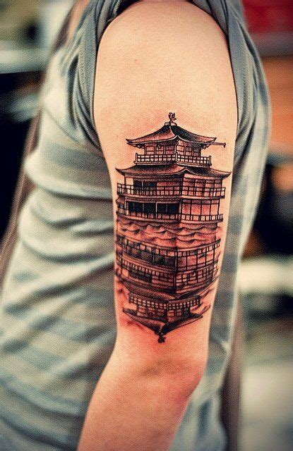 chinese temple tattoo designs cool pagoda ideas for 99