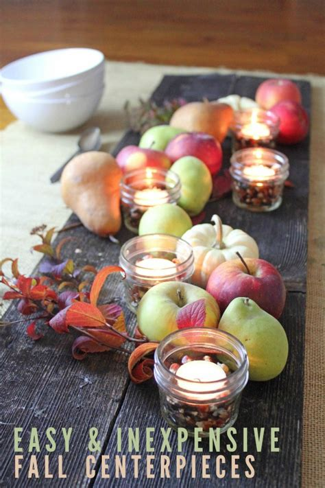 easy fall table centerpieces 5 easy and inexpensive fall centerpiece ideas frugal