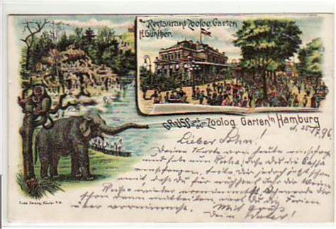 zoologischer garten post alte ansichtskarten postkarten antik falkensee tiere