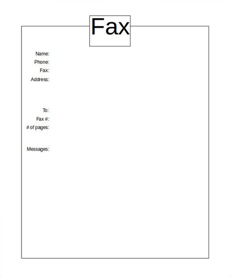 personal fax cover sheet template cover letter fax