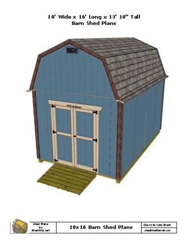 10x16 barn shed plans