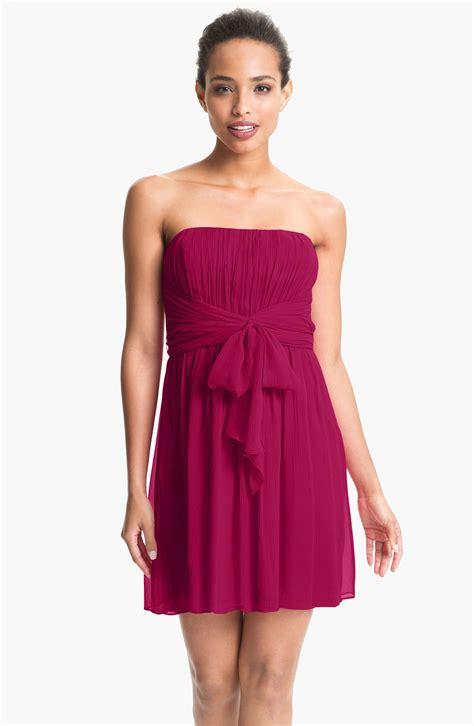 Cleeo Dress max cleo strapless textured chiffon dress in purple