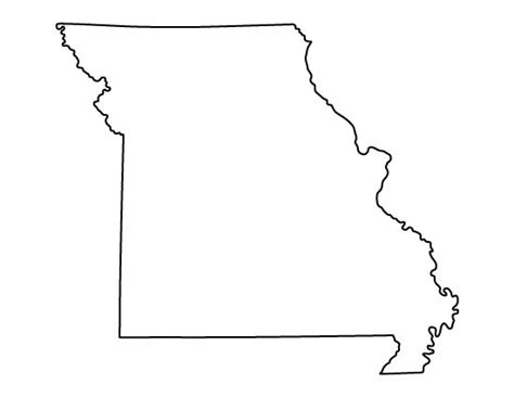 Missouri State Outline by Missouri Pattern Use The Printable Outline For Crafts Creating Stencils Scrapbooking And