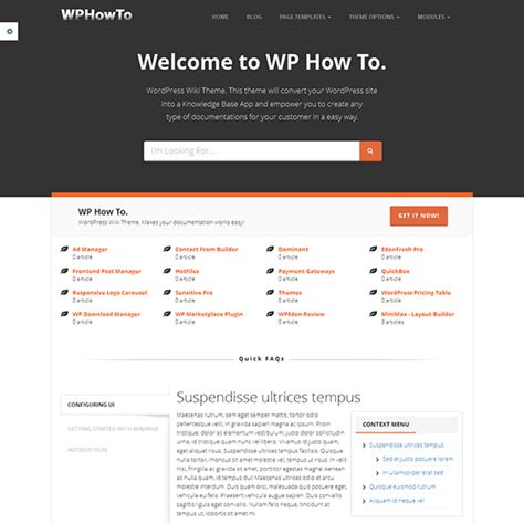 website templates for knowledge base 10 of the best knowledge base wiki faq wordpress themes