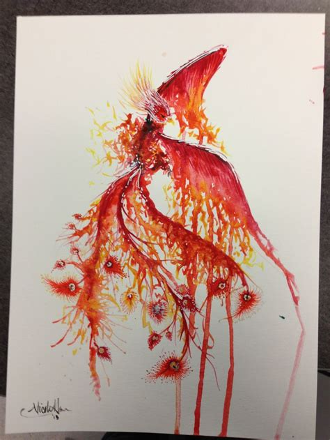watercolor phoenix tattoo watercolor ideas