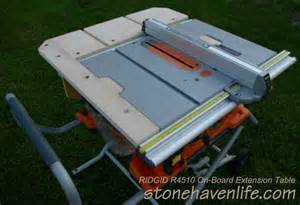 Ridgid Table Saw Extension by Extension Table For Ridgid R4510 Table Saw Free Plans