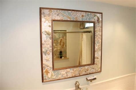 bathroom mirror surrounds this eclectic mirror surround was created using stone