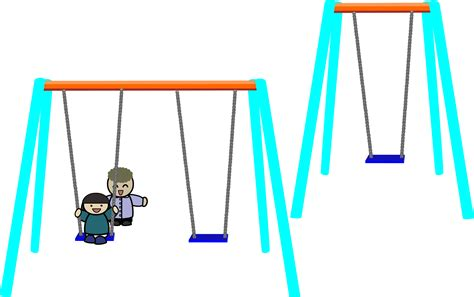 png swing clipart single and double swings