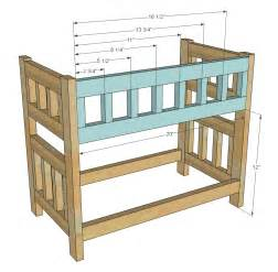 Wood Bunk Bed Plans Doll Bunk Bed Woodworking Plans Woodshop Plans