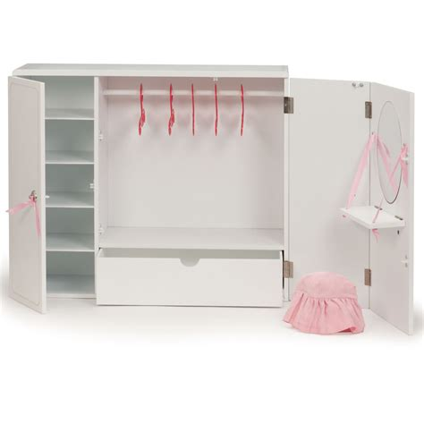 Our Generation Wardrobe our generation wooden wardrobe set og wooden wardrobe 18 inch dolls wardrobe from our