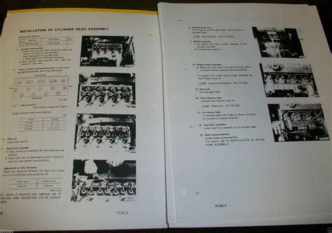 Shop Manual Komatsu Wa150 5 komatsu pc60 5 pc60 hydraulic excavator service shop repair manual book finney equipment and parts