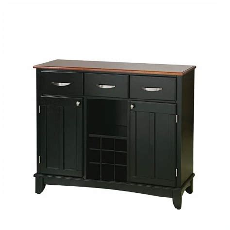 Black Kitchen Buffet by Credenzas Sideboards Home Styles Furniture 3 Drawer Large