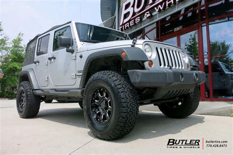 jeep wrangler   black rhino sierra wheels exclusively  butler tires  wheels
