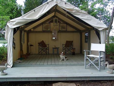 tent deck deck tent nesting in our cabin in the woods