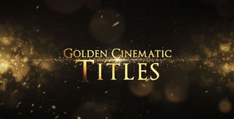 Golden Cinematic Titles Abstract After Effects Templates F5 Design Com Cinematic Title After Effects Template
