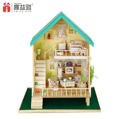 Model House Kits by Large Assembling Diy Wooden Doll House Model Kit Unique