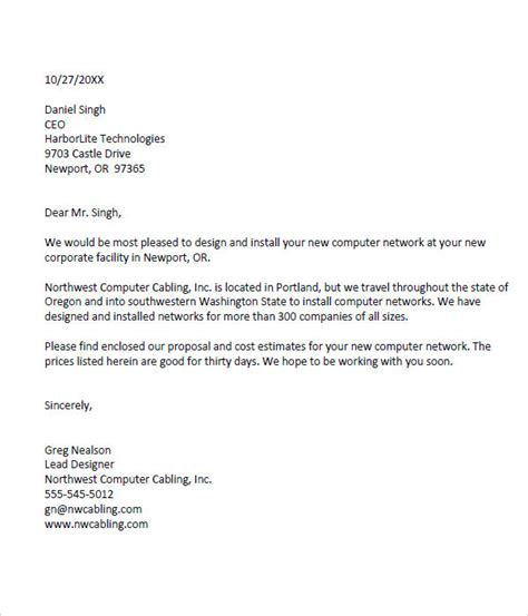Best Resume And Cover Letter Services by Sample Business Proposal Template 25 Documents In Pdf