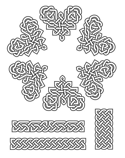 Knot Patterns - patterns created using celtic fonts pen pencil ink