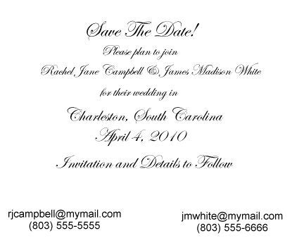 save the date cards wording template square shape sle save the date cards white color