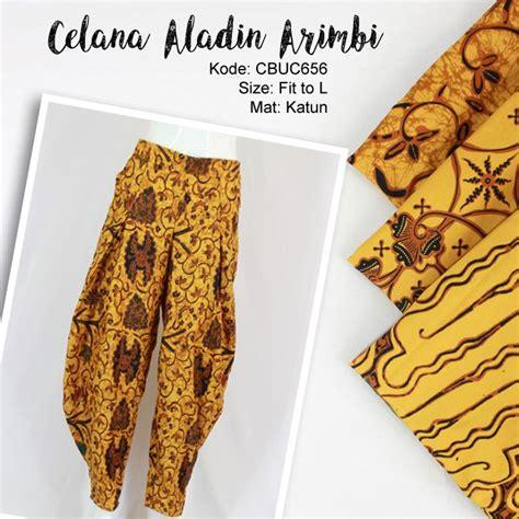Batik Aladin celana balon batik aladin arimbi klasik celana murah