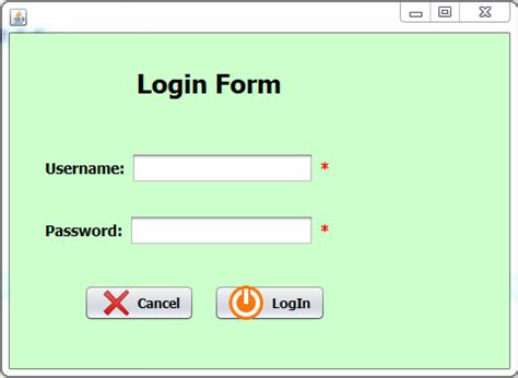 login form in java swing login form using java swing source code 28 images