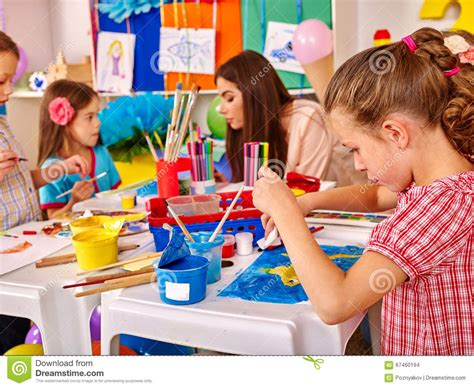 preschool painting free with painting on paper in kindergarten