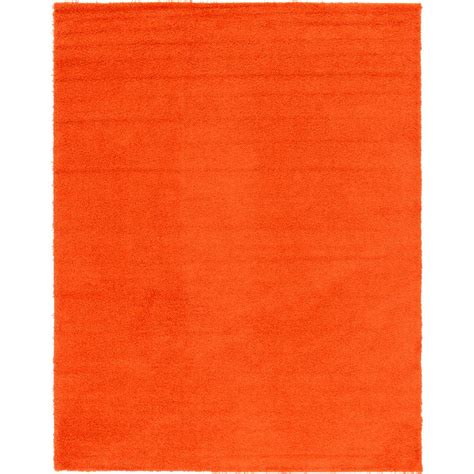 solid orange rug unique loom solid shag tiger orange 10 ft x 13 ft area rug 3127932 the home depot