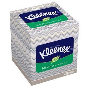kleenex lotion tissue  ply  sheets  box kimbx