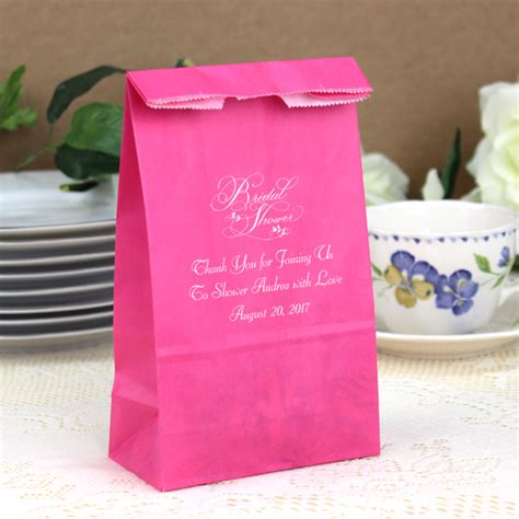wedding shower gift bags 4 x 2 x 8 personalized paper bridal shower and gift bags