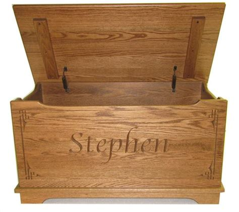 wooden toy chest unfinished this flat top solid oak toy chest is a great item