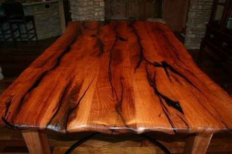 hand crafted mesquite dining table  porch light custom