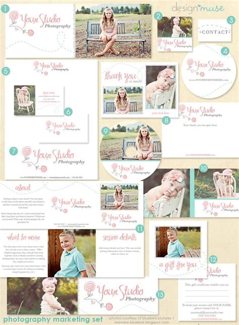 photography marketing templates photography marketing set with logo premade template kit
